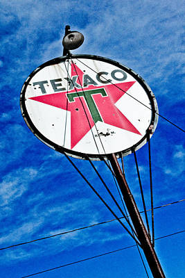 Photograph - Texaco Gasoline by Merrick Imagery
