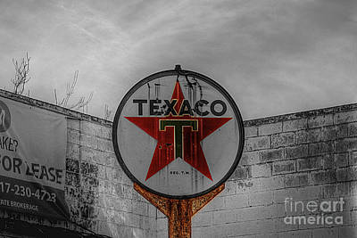 Antique Photograph - Texaco by Hilton Barlow