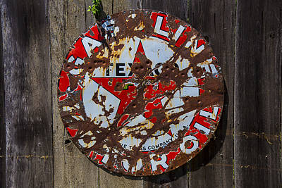 Gasoline Wall Art - Photograph - Texaco Sign by Garry Gay