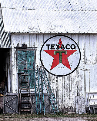 Texaco Times Past Art Print