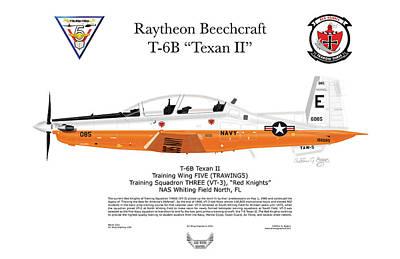 Texan II T-6b Art Print by Arthur Eggers