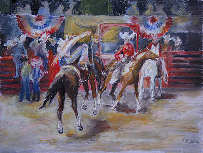 Painting - Texan Rodeo by Barbara Pommerenke