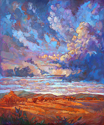 Hill Painting - Texan Sky by Erin Hanson