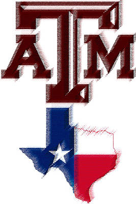 Digital Art - Texas Aggies by Photographic Art by Russel Ray Photos