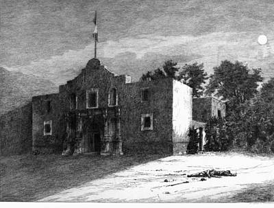 Alamo Painting - Texas Alamo, 1836 by Granger