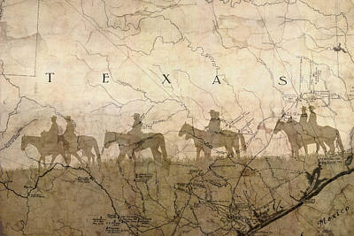 Texas And The Army Art Print by Suzanne Powers