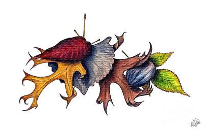 Drawing - Texas Autumn by Walt Foegelle