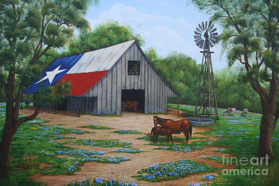 Texas Barn Art Print by Jimmie Bartlett