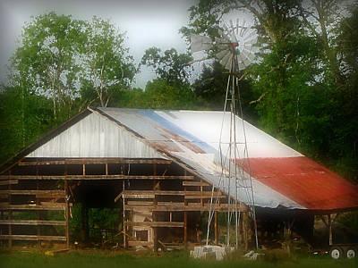Photograph - Texas Barn by Nadalyn Larsen