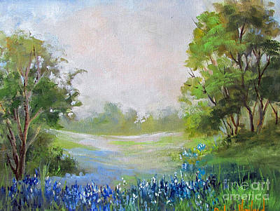 Texas Blue Bonnets Art Print