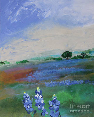 Painting - Texas Bluebonnets by Robin Maria Pedrero