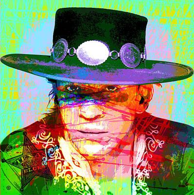 Digital Art - Texas Blues Man by Gary Grayson