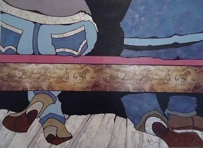 Drawing - Texas Boots Dance by Glenn Calloway