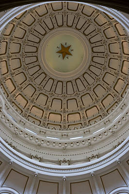 Photograph - Texas Capitol In White And Gold by Ed Gleichman