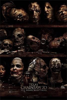 Texas Chainsaw 3d Faces Art Print