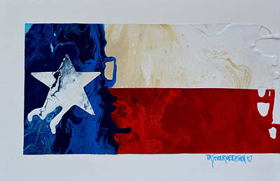 Painting - Texas Collage by Patti Schermerhorn