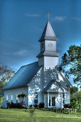 Photograph - Texas Country Church by D Wallace