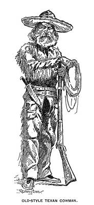 Texas Drawing - Texas Cowboy, 1887 by Granger