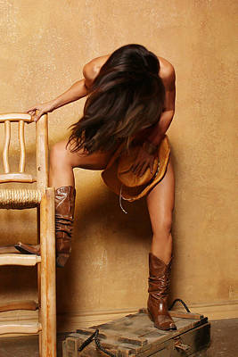 Nude Cowgirl Photograph - Texas Cowgirl Nude 1 by Noah Brooks