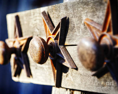Photograph - Texas Doorknob Trio by Lincoln Rogers