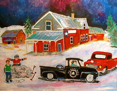 Texas Farm. Montreal Canadiens Painting - Texas Farm Winter by Michael Litvack