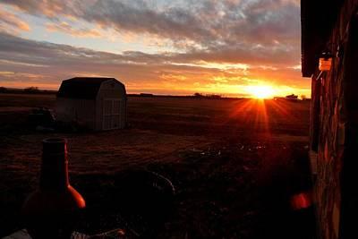 Photograph - Texas Farmland Sunset by Marilyn Burton