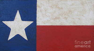Texas Flag Art Print by Jimmie Bartlett