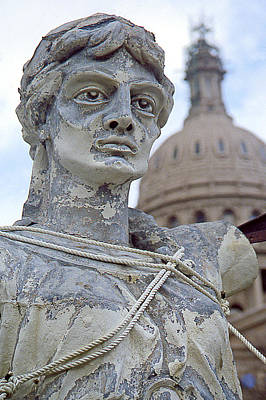 Texas Goddess Of Liberty I I Art Print