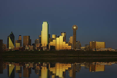 Dallas Skyline Wall Art - Photograph - Texas Gold by Rick Berk
