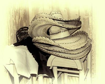 Texas Haberdashery - Sepia Art Print by TN Fairey