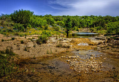 Photograph - Texas Hill Country Stream by David and Carol Kelly