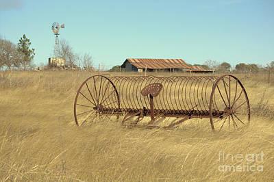 Texas Hill Country Farmscape Print by Joe Jake Pratt
