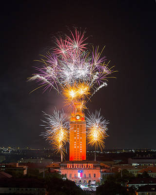 Texas Images - The University Of Texas Graduation 2014 3 Print by Rob Greebon