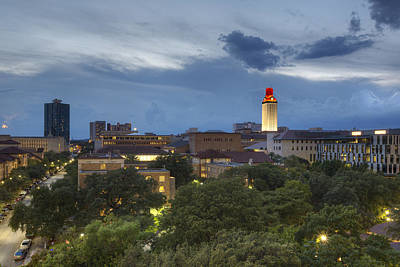 Ut Tower Photograph - The University Of Texas Tower As Storms Move Into Austin Texas by Rob Greebon
