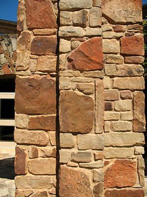 Photograph - Texas Limestone Column by Connie Fox