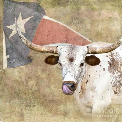 Longhorn Digital Art - Texas Longhorn # 2 by Betty LaRue