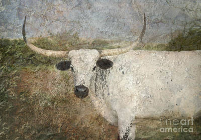 Texas Longhorn Cow Photograph - Texas Longhorn #1 by Betty LaRue
