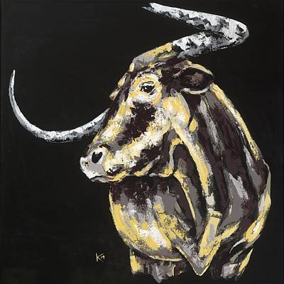 Texas Longhorn Original by Konni Jensen