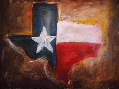 Dallas Western Painting - Texas by Niceliz Howard