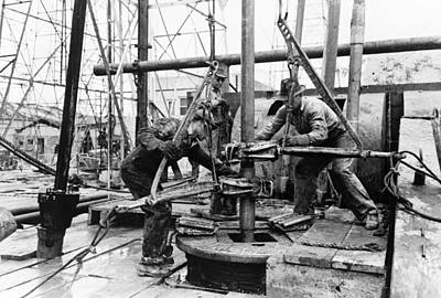 Photograph - Texas Oil Well, 1939 by Granger