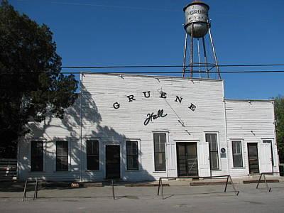 Texas Oldest Dance Hall Art Print by Shawn Hughes