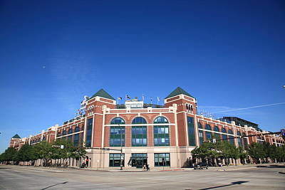 Photograph - Texas Rangers Ballpark In Arlington by Frank Romeo
