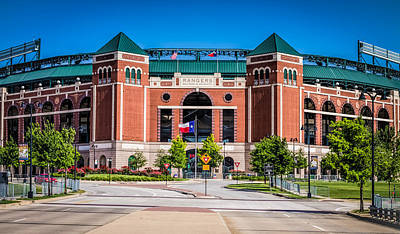 Robert Bellomy Royalty-Free and Rights-Managed Images - Globe Life Park in Arlington by Robert Bellomy