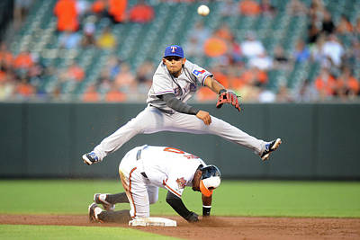 Photograph - Texas Rangers V Baltimore Orioles by Mitchell Layton