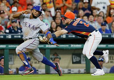 Baseball Players Wall Art - Photograph - Texas Rangers V Houston Astros by Bob Levey