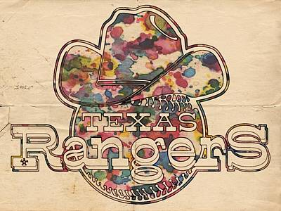 Painting - Texas Rangers Vintage Art by Florian Rodarte