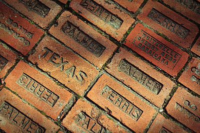 Photograph - Texas Red Brick by Jeanne May