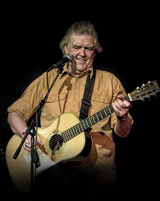 Photograph - Texas Singer Songwriter Guy Clark In Concert by Randall Nyhof