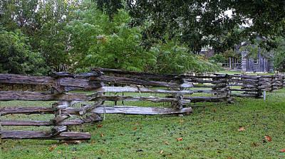 Split Rail Fence Photograph - Texas Split Rain Fence by Linda Phelps
