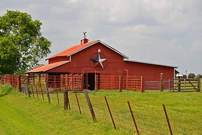 Texas Star Barn Art Print by Lynn Bauer